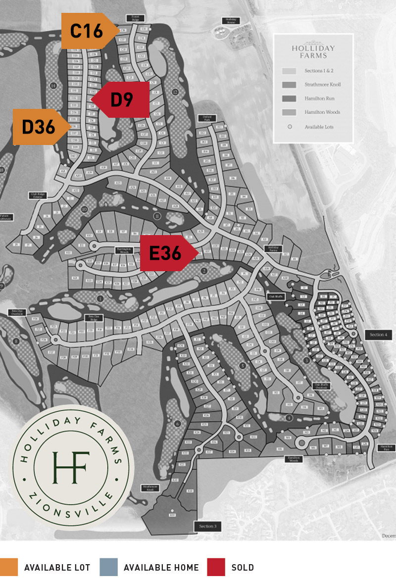 Holliday Farms Property Map